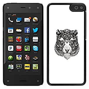 ZAKO CASE - Tribal Tiger Tattoo - FOR Amazon Fire Phone - Carcasa Funda Case Bandera Cover Armor Shell