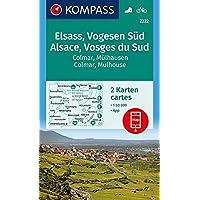 KOMPASS Wanderkarte Elsass, Vogesen Süd, Alsace, Vosges du Sud, Colmar, Mülhausen, Mulhouse: 2 Wanderkarten 1:50000 im Set inklusive Karte zur offline ... (KOMPASS-Wanderkarten, Band 2222)