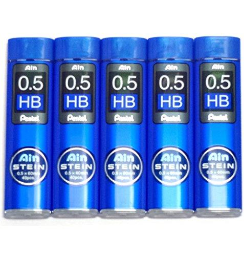 Pentel Ain Pencil Leads 0.9 mm B Japan Import Komainu-Dou Original Package 36 Leads X 5 Pack//total 180 Leads by Pentel Ain