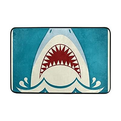 AURELIOR Dragon Sword Anti Slip Welcome Door Mat Shark Jaws Entrance Mat Floor Mat Rug Indoor/Outdoor/Front Door/Bathroom Mats 23.6 x 15.7
