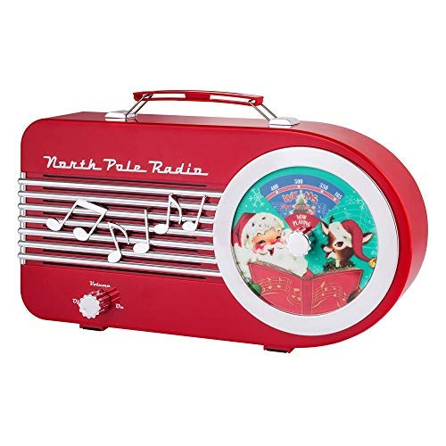 Mr. Christmas 79428 North Pole Radio Holiday Decorations, One Size, Red by Mr. Christmas