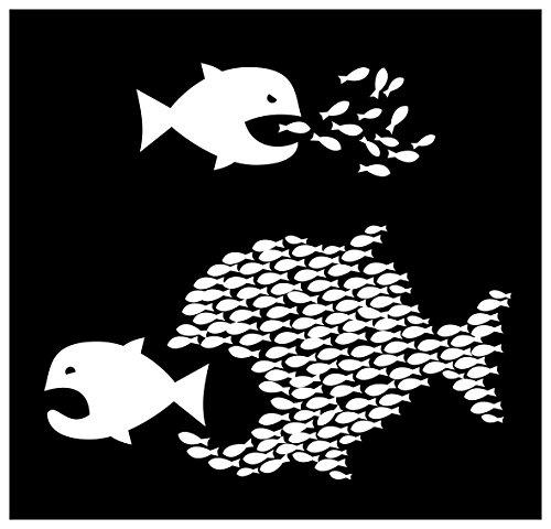 New Black Sticker Organize Socialist Anarchist Activist Communist Graphic Fish Funny Fun Activist Sticker