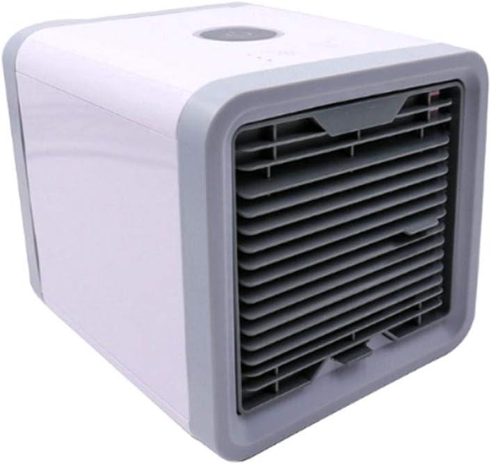GHH Aire Acondicionado Portátil Enfriador, 3-en-1 Mini Enfriador Humidificador Purificador de Aire Portátil con 3 Velocidades y 7 Colores LED Luz de la Noche USB Aire Acondicionado: Amazon.es: Deportes y aire libre