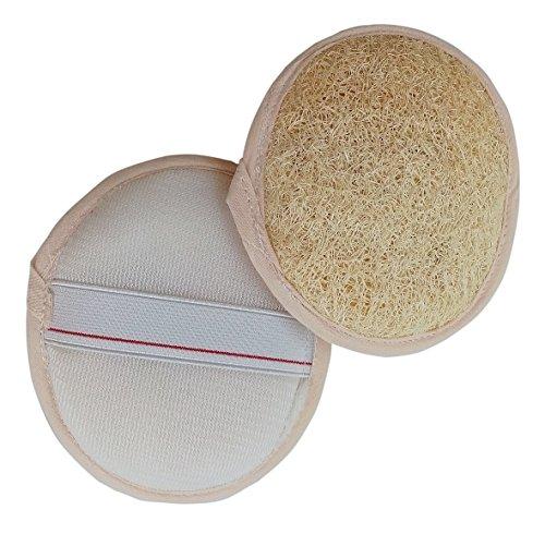 [TSM Loofah Gourd Exfoliate Sponge Back Scrubber For shower (2, 4