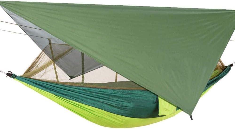 YSCYLY Hamaca Tela Colgante,con mosquitera Sombrilla Sky Screen Quick-Dry,con Bolsa para Viaje Camping JardíN Reutilizable