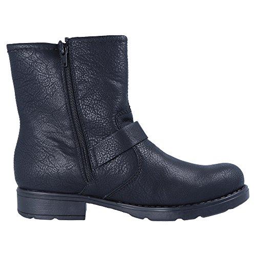 Women Rieker schwarz schwarz 01 75462 Boots Ankle black zwqABw