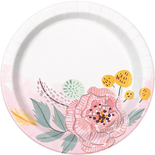 - Painted Floral Round Dessert Party Plates, 8 Ct.