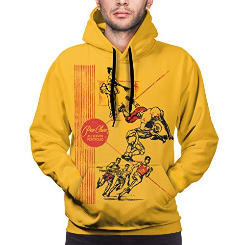 chenche Pee Chee Sweatshirts Men's Hoodies Pullover Folder Graphic Long Sleeve Hoodie Retro Printed Sweater