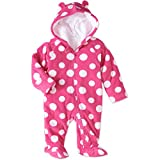 Healthtex Baby Girl Pram Snowsuit Faux Fur Fleece