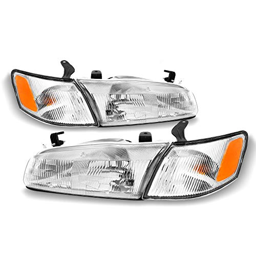 Fits 1997 1998 1999 Toyota Camry Front Headlamps Headlights + Corner Lights Direct Replacement Pair