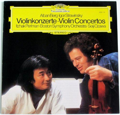 Berg Bookshelf (Alban Berg-igor Stravinsky Violinkonzerte-violin Concertos Itzhak Perlman Boston Symphony Orchestra Seiji Ozawa)