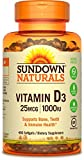 1000 iu vitamin e - Sundown Naturals Vitamin D3 1000 IU, 400 Softgels