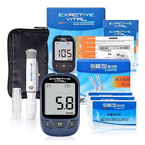 Elera Updated Exactive Vital Blood Glucose Meter Monitor System Kit w/ 50Pcs