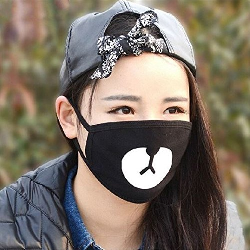 Bear Mouth Nose Mask Mouth-muffle Respirator Dust Proof Winter Anti-cold Cloth Comfortable by - My Face Glasses Suit Which