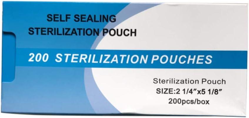 200Pcs Bolsas de esterilizaci/ón de autosellado Dental Bolsas de esterilizaci/ón HEREB Bolsas de esterilizaci/ón