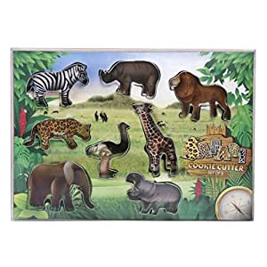 Eddingtons Set of 8 Safari Jungle Animal Cooke Cutters 853108