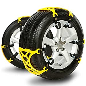 newox anti slip tire chain snow chains for cars double clip premium tendon easy. Black Bedroom Furniture Sets. Home Design Ideas