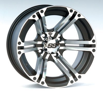 ITP 1428375404B SS ALLOY SS212 Black Wheel with Machined Finish (14x6'/4x156mm)