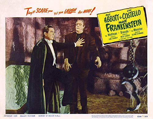 11 x 14 Inch Puzzle 252 Pcs Poster Abbott and Costello Meet Frankenstein