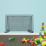 Wall Decal Vinyl Sticker Decals Soccer Football Gate Goal Kids Boys Sport Keeper Net (Z1555)