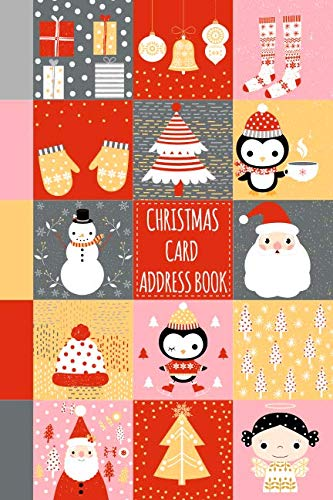 Christmas Card Address Book: Record Book and Tracker For Holiday Cards You Send and Receive, A Ten Year Address Organizer Cute Cover with Santa Claus, Snowmen and Winter Animals and Clothes (Postcard Christmas Angel)