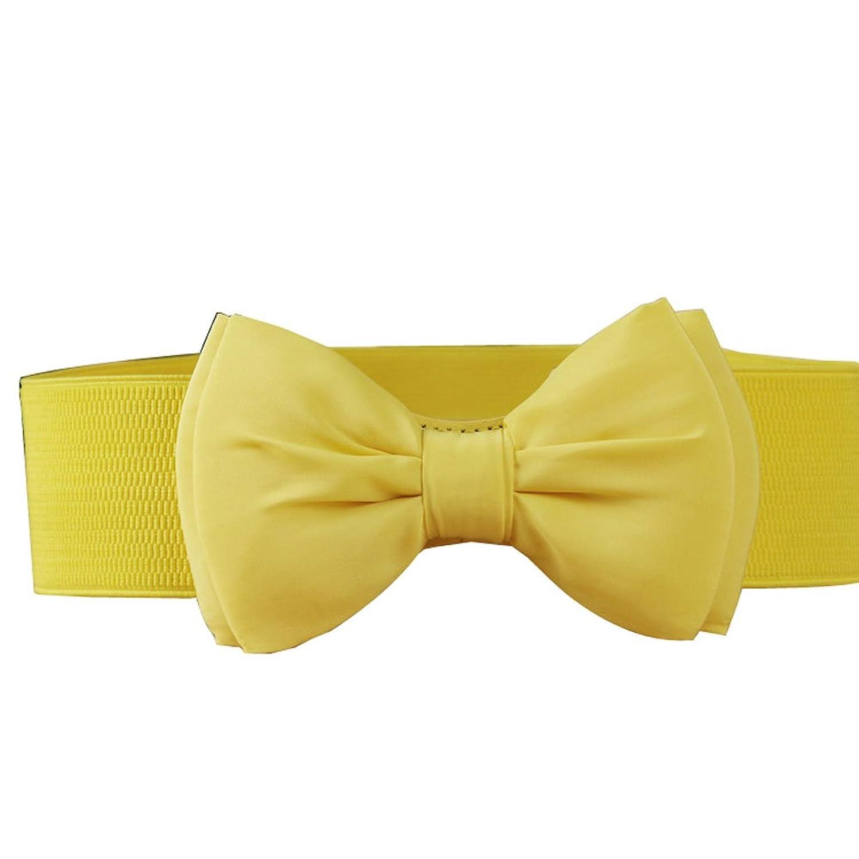 Deercon Lady Adjustable Bowknot Elastic Waistband Waist Belt Dress Belt(6 Colors)