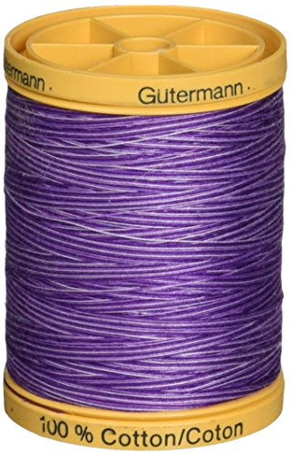 (Gutermann Natural Cotton Thread Variegated 876yd, Purple Passion)
