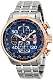 Invicta Men's 17203 AVIATOR Stainless Steel and 18k Rose Gold Ion-Plated Watch Rating