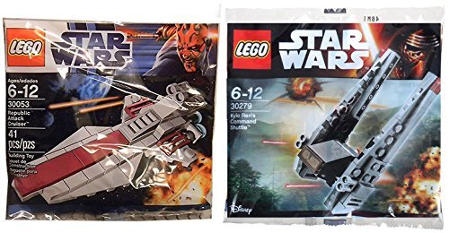 Lego Star Wars Republic Attack Ship & Kylo Ren's Command Shuttle Starship set - Polybag 30279 + 30053 edition Building (Republic Star Cruiser)