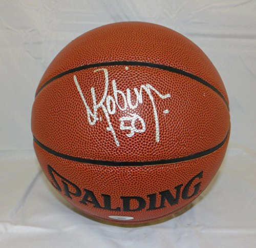 (David Robinson Autographed Basketball - Official Spalding Auth - Tristar Productions Certified - Autographed Basketballs)