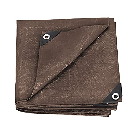 Stansport Reinforced Brown Rip-Stop Tarp, 6 x 8-Feet (Exterior Doors With Side Lights)
