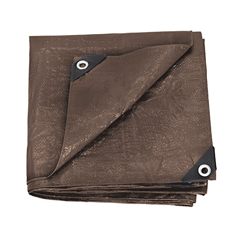 Stansport U-1012 Reinforced Rip-Stop Tarp, Brown - 10' x 12'