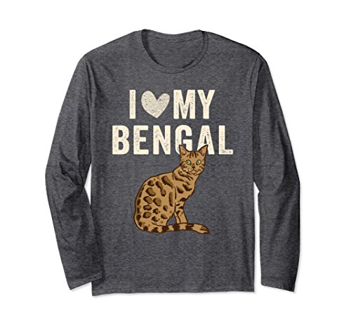 Unisex I Love My Bengal Cat Shirt: Funny Cats Owner Gift | SA074 2XL Dark Heather