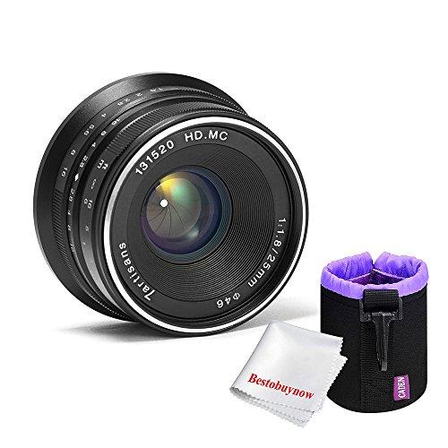 7.5 X 10.5 Light (7artisans 25mm F1.8 Large Aperture Portrait Manual Focus Lens for Fuji Cameras,with Caden Lens Pouch Bag,Black)