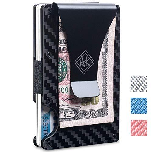 RFID Carbon Fiber Wallet| Slim Minimalist Wallet for Men & Women with Money Clip