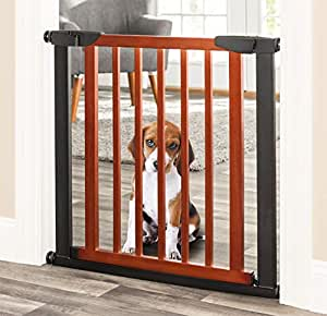 Amazon Com Palmer Dog Gate Indoor Pet Barrier
