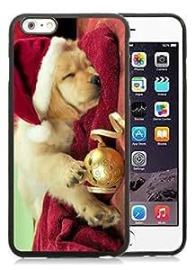 2014 New Style iPhone 6 Plus Case,Christmas Dog Black iPhone 6 Plus 5.5 TPU Case 45