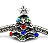 Best Housweety Wine Makings - HOUSWEETY 10 Silver Tone Rhinestone Christmas Tree Beads Review