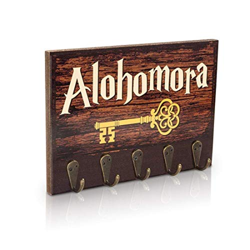Decor Key Rack - getDigital Alohomora Key Rack | Magical Home & Office Decor Key Holder with 5 Metal Hooks | Also suitable as a Hanger for Clothes, Bags or Dog Leashes