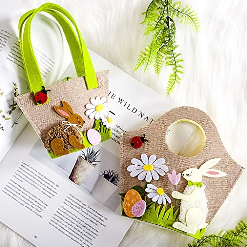 Little Story  Candy Storage, 2pcs Easter Rabbit Gift Candy Bag Creative Present Home Accessory ()