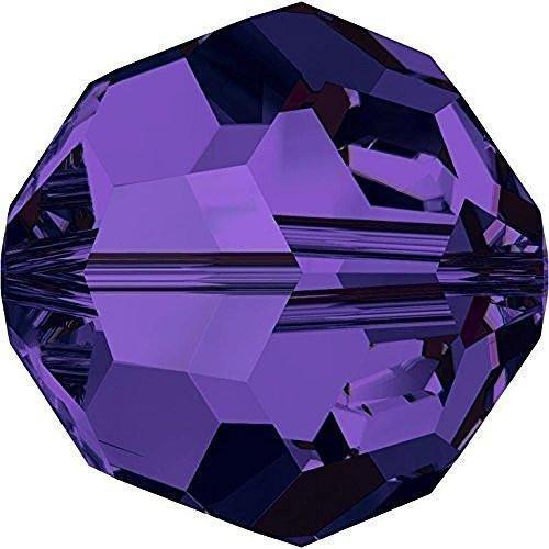 (5000 Swarovski Crystal Beads Round Purple Velvet | 8mm - Pack of 10 | Small & Wholesale Packs)
