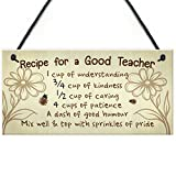XLD Store Hanging Plaque Gift for Teacher Teaching Assistant Mentor Thank You Leaving School Gift