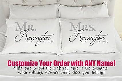 Amazon com: Boyce22Par Pillow Case Cushion Cover Personalized Mr