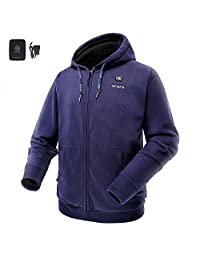 ORORO Cordless Heated Hoodie with Battery 7.4v 4400mAh+ Charger Kit