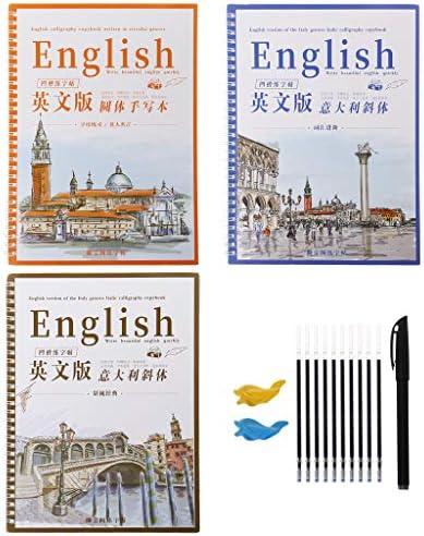 Kerhcusde Groove Calligraphy Copybook Englisch kursiv Handschrift Buch Groove enthalten Training Pen Minen halten Tools Set