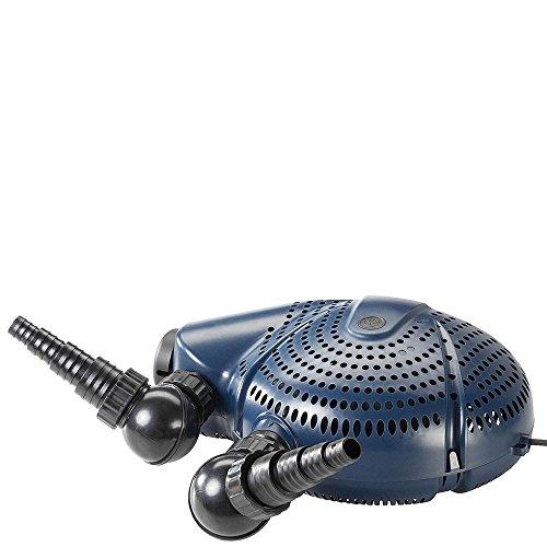 FIAP 2731 Aqua Active Profi 6.000, Teichpumpe, Filter- und Bachlaufpumpe, separat regelbarer Skimmeranschluss