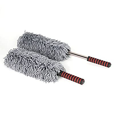 West Coast Corvette / Camaro Premium Microfiber Car Duster - Extendable Handle - Car and Home (Pack of 2 Dusters): Automotive