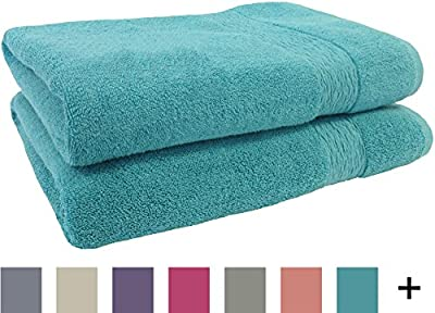 Jessica Simpson BX08183WHJS Solid Bath Towel (2 Pack), White