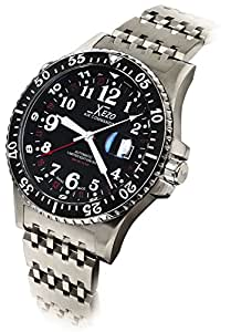 Xezo air commando d45 r 300 meters water resistant dive and pilot swiss automatic for Xezo watches