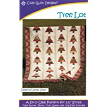 "Tree Lot Quilt Pattern, Jelly Roll 2.5"" Strip Set Friendly, 5 Sizes Options Including Table Runner"